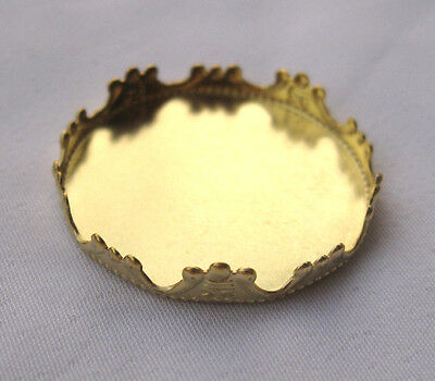 Brass Bezel Setting Filigree Findings for 25mm Round Cabochon t056 (10pcs)