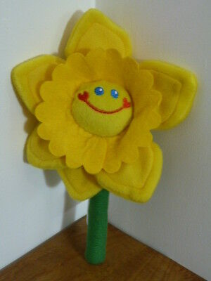 Dydd Gwyl Dewi St Davids Day Daffodil with Smiley Face.