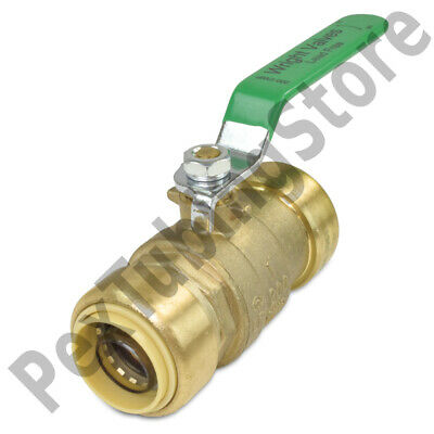 """1"""" Sharkbite Style (Push-Fit) Push to Connect Lead-Free Brass Ball Valve"""