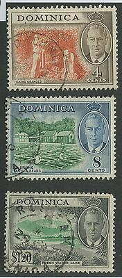 Dominica #126, 129, 135 Used Vf
