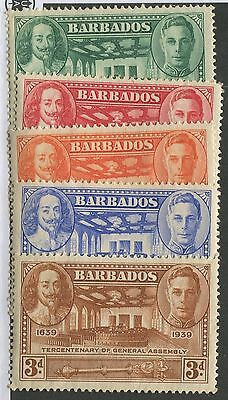 Barbados #202-206 Mint Set