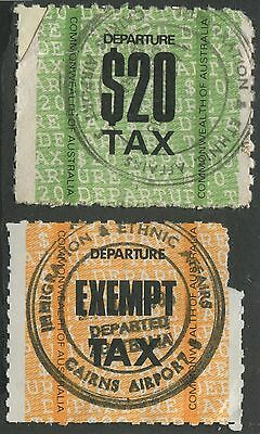 Australia Used Departure Tax Stamps