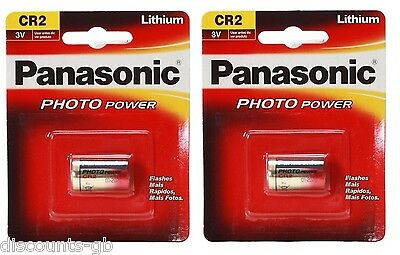 2 x Panasonic CR2 3V Lithium Photo Battery - Photo Camera - 1CR2, DLCR2