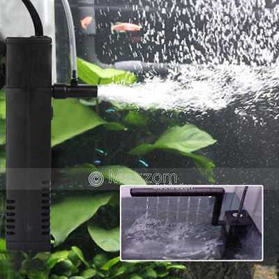 300L/H 4W Aquarium Internal Filter for Fish Tank Submersible with Spray Bar UK