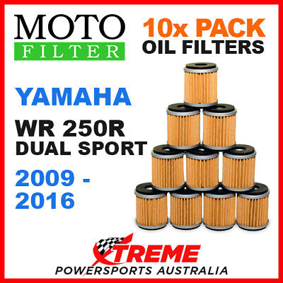 10 Pack Moto Mx Oil Filters Yamaha Wr250R Wr 250R Dual Sport 2009-2016 Dirt Bike
