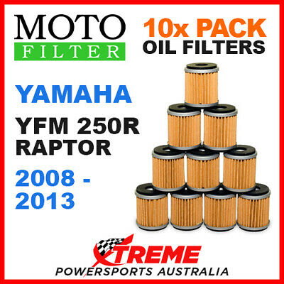10 Pack Moto Mx Oil Filters Yamaha Yfm250R Yfm 250R Raptor 2008-2013 Atv Bike
