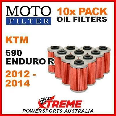 10 Pack Moto Mx Oil Filters Ktm 690 Enduro R 690R 2012-2014 Motorcycle Off Road