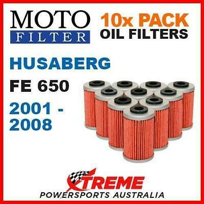 10 Pack Moto Mx Oil Filters Husaberg Fe650 650Fe Fe 650 2001-2008 Enduro Bike