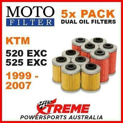 5 Pack Moto Mx Oil Filters Ktm 520Exc 525Exc 520 525 Exc 4T 4 Stroke 1999-2007