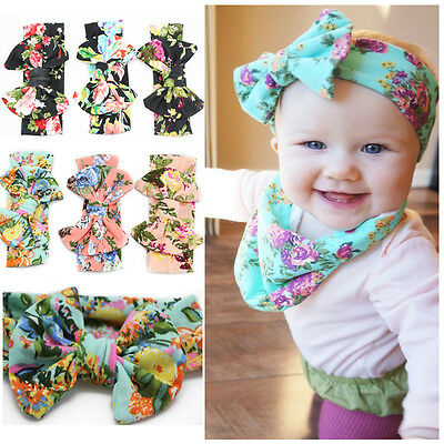 New Baby Girl Kids Big Bowknot Hairband Headband Turban Knot Head Wrap Headwear