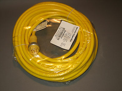Mencom MIN-8MPX-30 MIN Size II Cordset 8 Pole Male Single End Straight 30 Feet