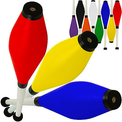 Set of 3 Jac Products Medium Air Juggling Clubs Beginner to Pro Juggling Pins