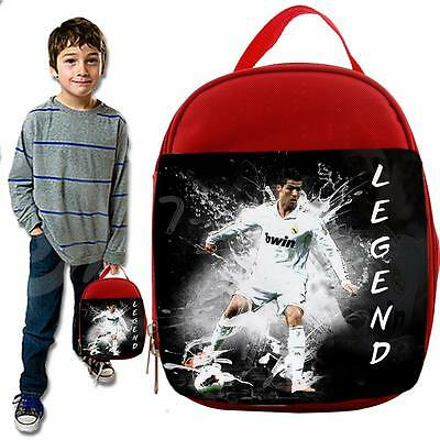 Legend Ronaldo Splash  Unoffical Football red  Lunch Bag Insulated Cool Box
