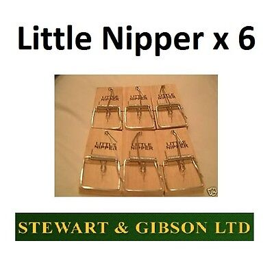 6 X Little Nipper Snap Traps Mice Mouse Rodent Killer Professional Trap