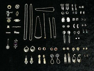 Ladies Mixed Costume Jewellery 359 Pieces Earrings Necklaces Brooches