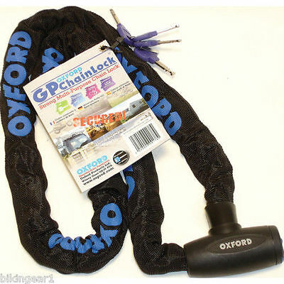 Oxford GP Strong Mortorcycle Scooter Bicycle Security Chain Lock Padlock 1.5m