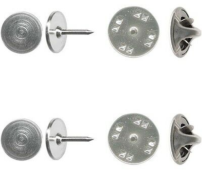 Wholesale 500 Economy Silver Brass TIE TACKS tacs with backs 10mm pad x 8mm post
