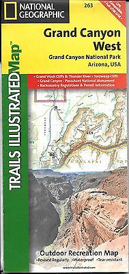 Map of Grand Canyon West, National Park, National Geographic Adventure Maps #263