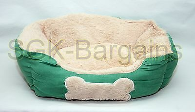 Green SMALL Puppy Pet Dog Cat Pillow Sofa Nesting Bed Mat Basket Washable