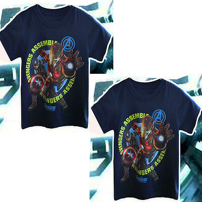 1-7Y Kids Boys Baby Avengers Super Hero Short Sleeve Tops T Shirt Summer Clothes
