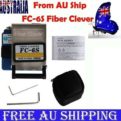 AU Ship FC-6S Optical Fiber Cleaver FTTH Fiber Optic Cable Splice Metal Cutter