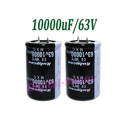 10000uF//63V High quality Electrolytic radial Capacitor DIP 30*50mm NEW 24pcs