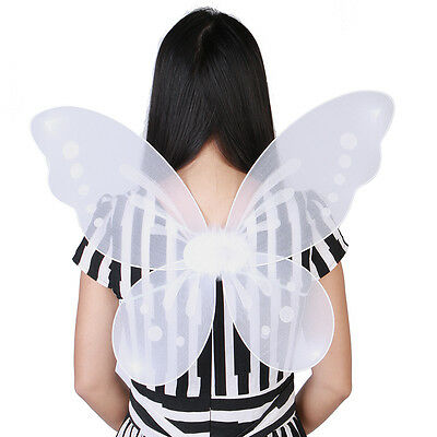 "Halloween Kids Adults Butterfly Fairy Wings Tinkerbell Pixie Costume 22""x17"" New"