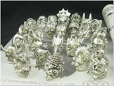 Wholesale Lot of 25 Dragon Scorpion Skull Gothic Rings