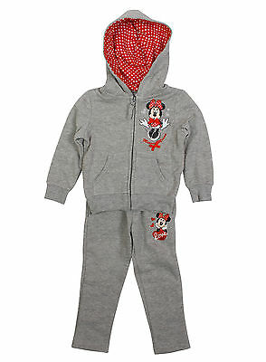 Girls Disney Minnie Mouse Kids Full Jogging Tracksuit Age 3-8