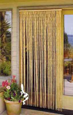 Master Garden Products Natural Beaded Bamboo Curtain, 36 by 78-Inch