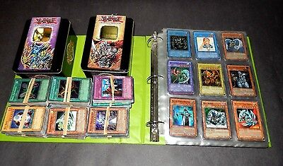 Lot Of 1100+ Yugioh Cards And Two Tins With Playing Fields - Super Rares + Holos