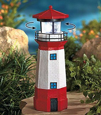 Solar Lighthouse with Rotating Lamp