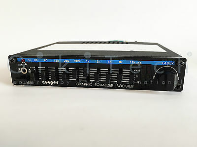 Vintage Graphic Equalizer Power Booster - 10 Control With Fader - Car Audio