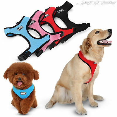 Dog Pet Harness Polyester Mesh Size Adjustable Puppy Animal Safety XS S M L XL