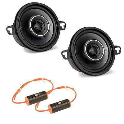 "Kicker KSC35 KS-Series 3.5"" Coaxial 2-Way Speaker Package with Bass Blocker Pair"