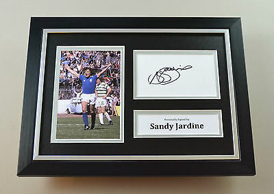 Sandy Jardine Signed A4 Photo Framed Rangers Autograph Display Memorabilia + COA