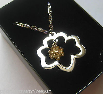 Girl Scout 100 Anniversary TREFOIL PENDANT NECKLACE Jewelry Charm Silver GIFT