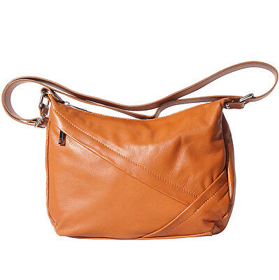 Shoulder Bag Italian Genuine Leather Hand made in Italy Florence 3014 ta