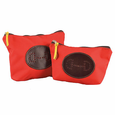 Rebecca Ray Lightweight Cosmetic Bag - Bit Emblem - Diff Sizes - Diff Colors