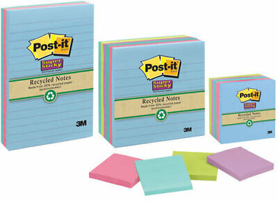 Post It Super Sticky 98 x 98 Tropical Lined Notes