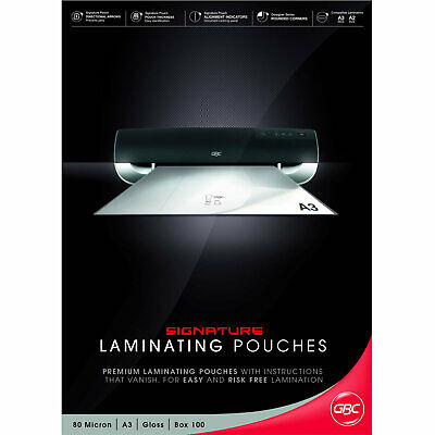 GBC Laminating Pouches Signature A3 80mic 100 Pack