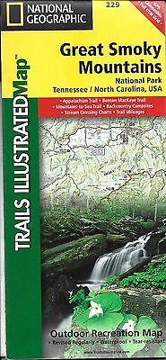 Map of Great Smoky Mountains Park, by National Geographic Adventure Maps #229