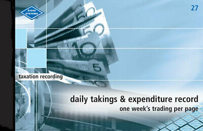 Zions Daily Takings & Expenditure Record Book 205 x 355mm - No. 27