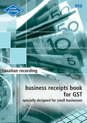 Zions Business Receipt Book For GST - BRB