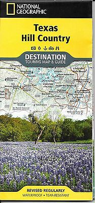 Map of Texas Hill Country, TX, by National Geographic Destination Map & Guide