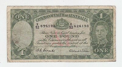 One Pound Paper Banknote Commonwealth of Australia Coombs Wilson E-351