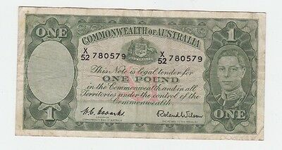 One Pound Paper Banknote Commonwealth of Australia Coombs Wilson E-359