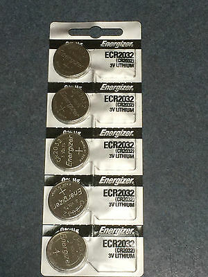 5 x ENERGIZER CR2032 Lithium 3v Coin Battery Australia Stock SAME DAY SHIPPING
