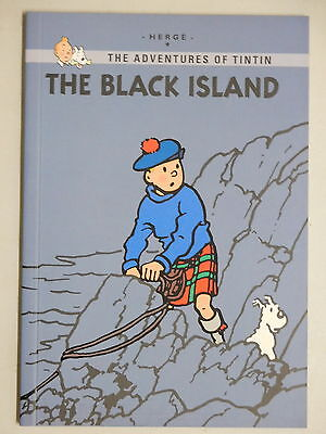 Tintin The Black Island graphic novel soft cover Herge New Edition
