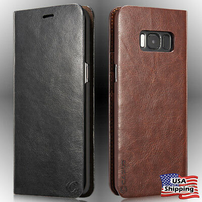 Genuine Leather Wallet Card Holder Flip Case For Samsung Galaxy S10 Plus/Note 10